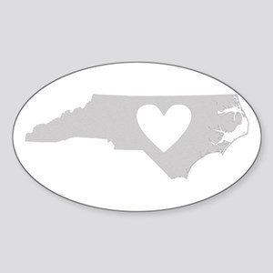 Heart North Carolina Sticker (Oval)