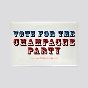 Vote for Champagne Party Rectangle Magnet