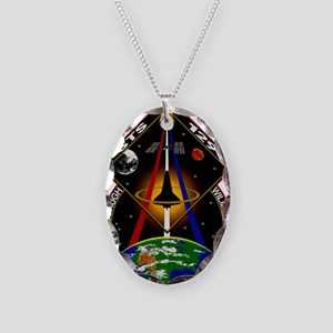STS-129 Print Necklace Oval Charm