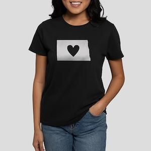 Heart North Dakota Women's Dark T-Shirt