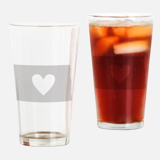 Heart North Dakota Drinking Glass