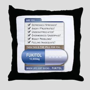 Fukitol Throw Pillow