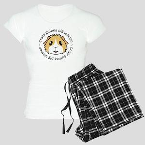 Crazy Guinea Pig Woman pajamas