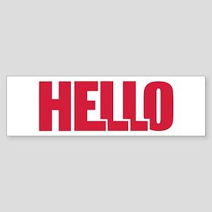 Hello Sticker (Bumper)