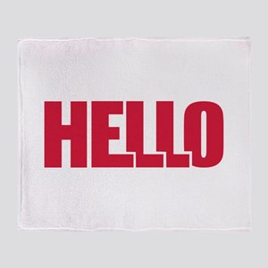 Hello Throw Blanket