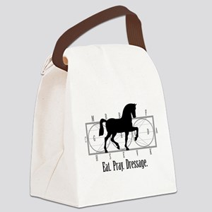 Eat. Pray. Dressage. Canvas Lunch Bag