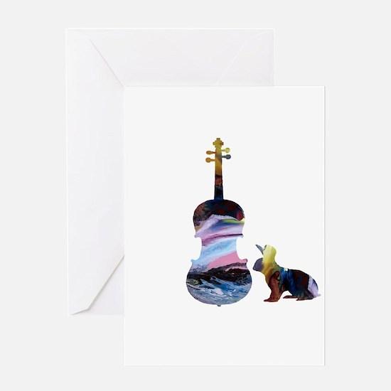 Rabbit / Viola Artwork Greeting Cards