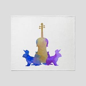 Rabbit / Viola Artwork Throw Blanket