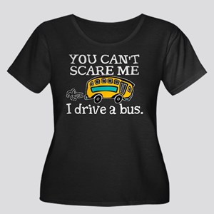 Bus Driver Women's Plus Size Scoop Neck Dark T-Shi