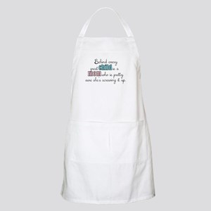 Behind every great child is a mom... Apron