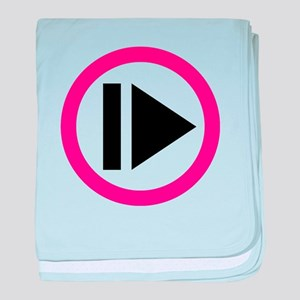 Play button music baby blanket
