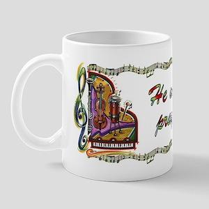 He Who Sings Prays Twice Mug