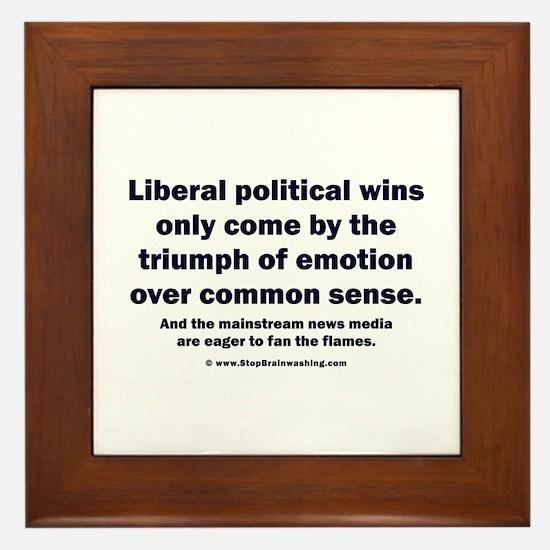 No Sense Liberals Framed Tile