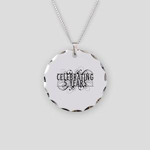 Celebrating 5 Years Necklace Circle Charm
