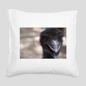 Emu Square Canvas Pillow