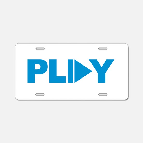 Play button music Aluminum License Plate