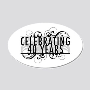 Celebrating 40 Years 20x12 Oval Wall Decal