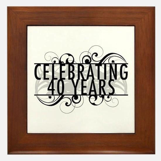 Celebrating 40 Years Framed Tile