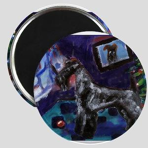 KERRY BLUE xmas Magnet
