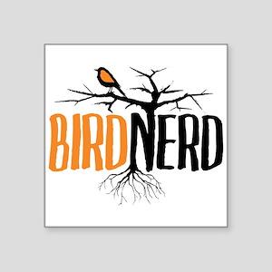 Bird Nerd (Black and Orange) Sticker