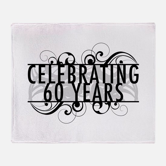 Celebrating 60 Years Throw Blanket