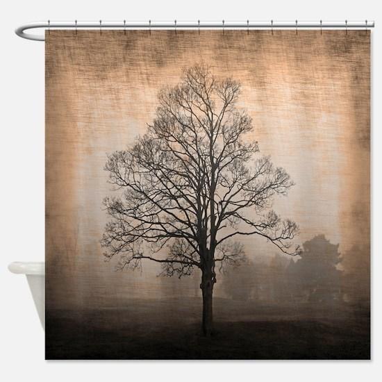 Abandoned Tree Shower Curtain