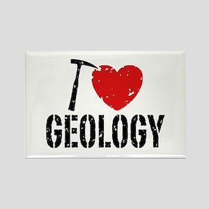 I Love Geology Rectangle Magnet