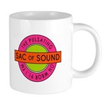 Pulsating Sac of Sound 80s Subway Logo Mugs
