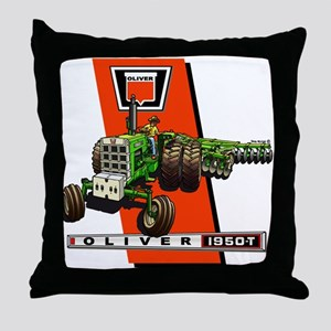 Oliver 1950-T Tractor Throw Pillow
