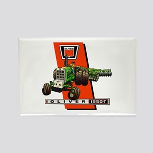 Oliver 1950-T Tractor Rectangle Magnet