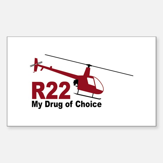 Drug of Choice Rectangle Decal
