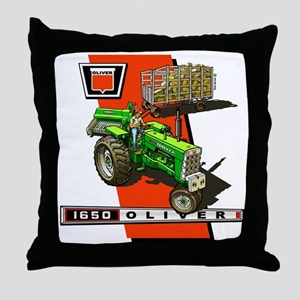 Oliver 1650 Tractor Throw Pillow