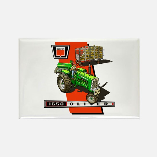 Oliver 1650 Tractor Rectangle Magnet