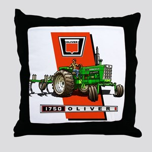 Oliver 1750 Tractor Throw Pillow