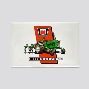 Oliver 1750 Tractor Rectangle Magnet