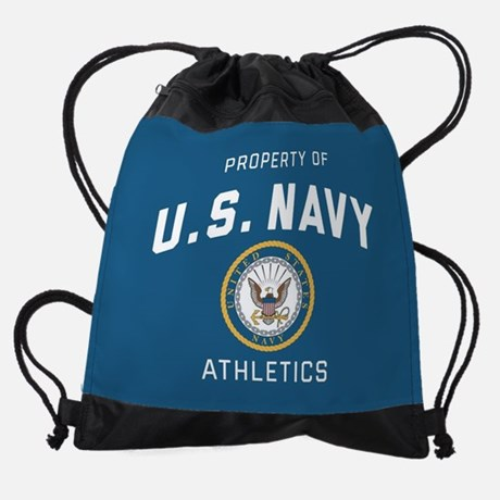 Property of U.S. Navy Athletics Drawstring Bag Drawstring Bag