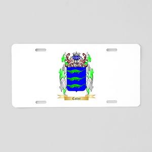 Cotter Aluminum License Plate