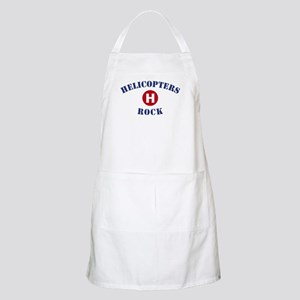 Helicopters Rock BBQ Apron