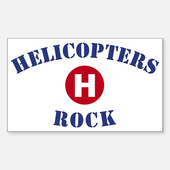 Helicopters Rock Rectangle Decal