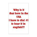 Press 1 to hear it in english  Mini Poster Print