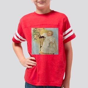 MH-ChristmasBaby-Square Youth Football Shirt