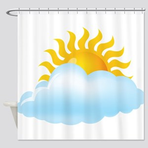 Cloudy - Storm - Weather - Sunny Shower Curtain