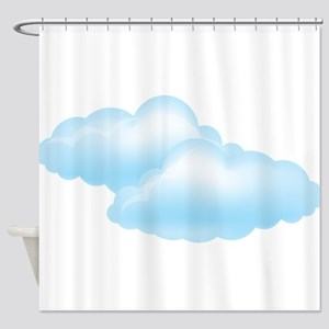 Cloudy - Weather - Storm Shower Curtain