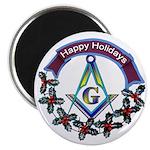 Masonic Holiday Magnet 2.25