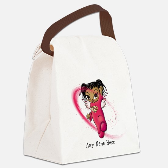 African American Angel Canvas Lunch Bag