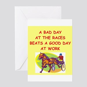 harness racing Greeting Card