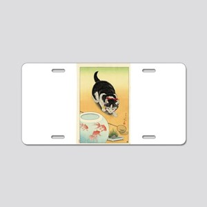 Japanese Cats Aluminum License Plate