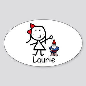 Gnome - Laurie Oval Sticker