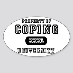 Coping University Oval Sticker