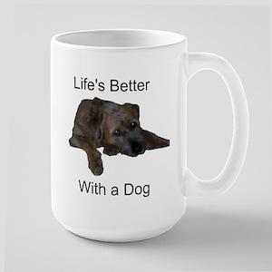 Life's Better With a Dog Large Mug